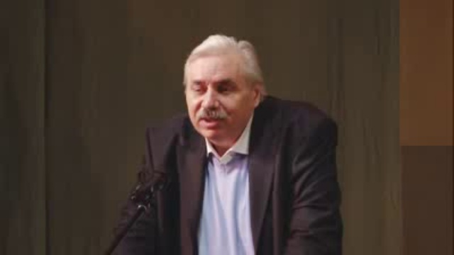 Выступление Н. Левашова на собрании избирателей .