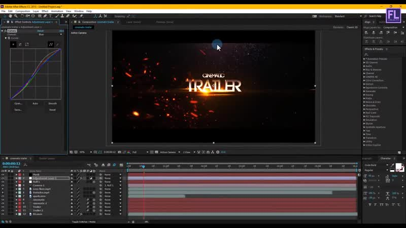 After Effects Tutorial_ Cinematic Title Animation in After Effects - No Plugin _
