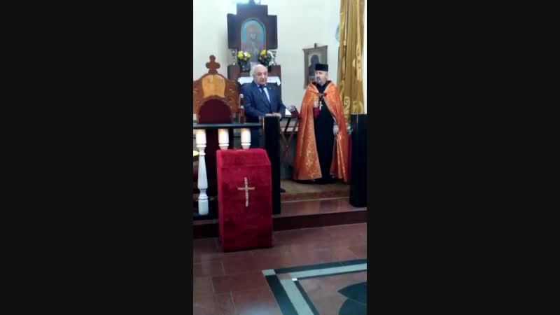7 декабря, в Краснодаре, в армянской церкви Сурб Аствацацатин Епархии Юга России. Траурная служба