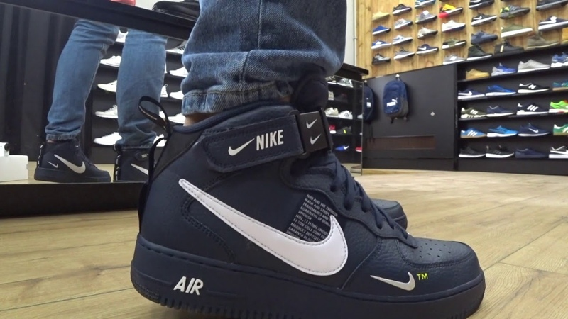 ONFEET Nike Air Force 1 Mid LV8 Navy (804609-403) Review
