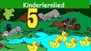 Fünf Kleine Enten Kinderlied Lernlied in Deutscher Sprache Sing mit Yleekids