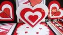 VAN TV TUTORIAL/ IDEAS EXPLODING BOX 12X12X12/ LOVE BOX / CÁCH LÀM HỘP QUÀ
