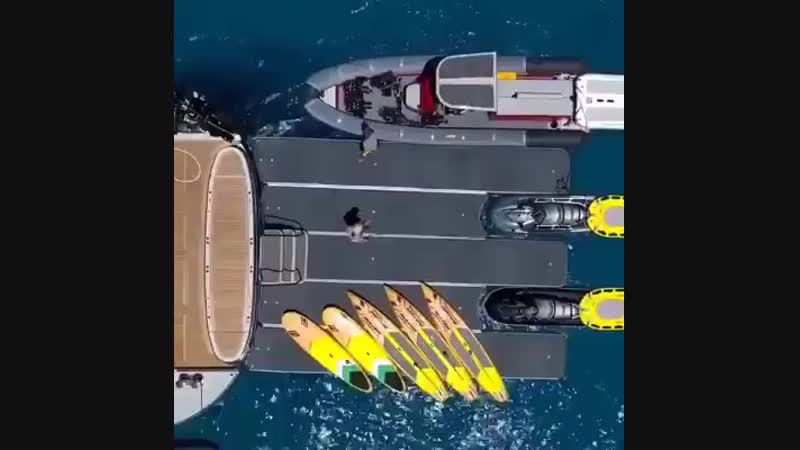 Amazing inflatable mega dock attached to