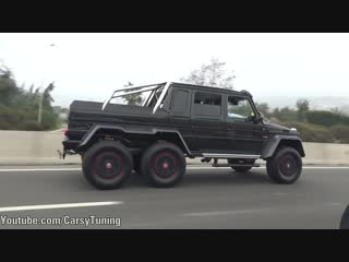 Brabus Mercedes G63 AMG 6x6 700 on the Street - Acceleration Sounds