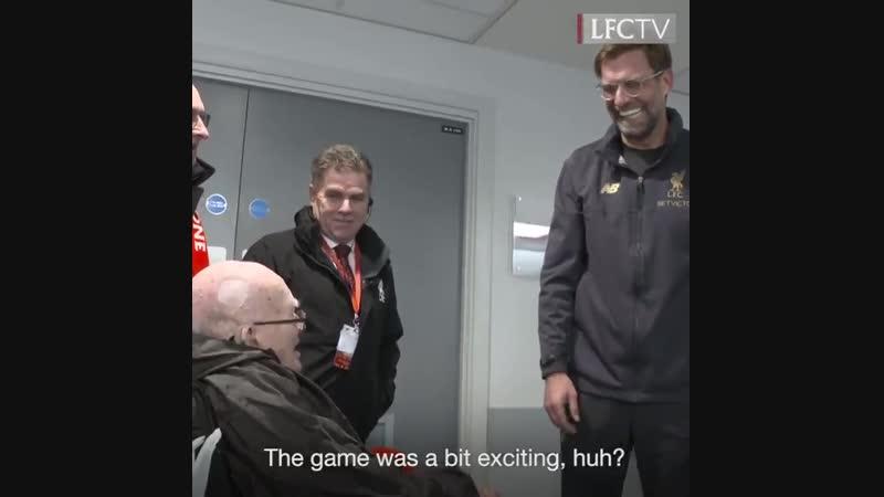 104-летний болельщик «Ливерпуля»