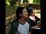 Камила Мендес на съёмках нового проекта под названием Озеро Койот.