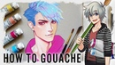 【HOW TO GOUACHE】Tutorial for Beginners