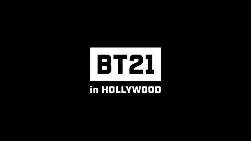 We are sooooooo proud of you guys💕 🎥 Check out BTS 's fatherly love for UNIVERSTAR BT21  <Location> 📍 6922 Hollywood Blvd, Lo