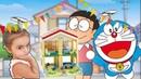 Дораэмон - Doraemon, playhouse, Виктория играет с домиком дораэмона.Kids Victoria Playing.