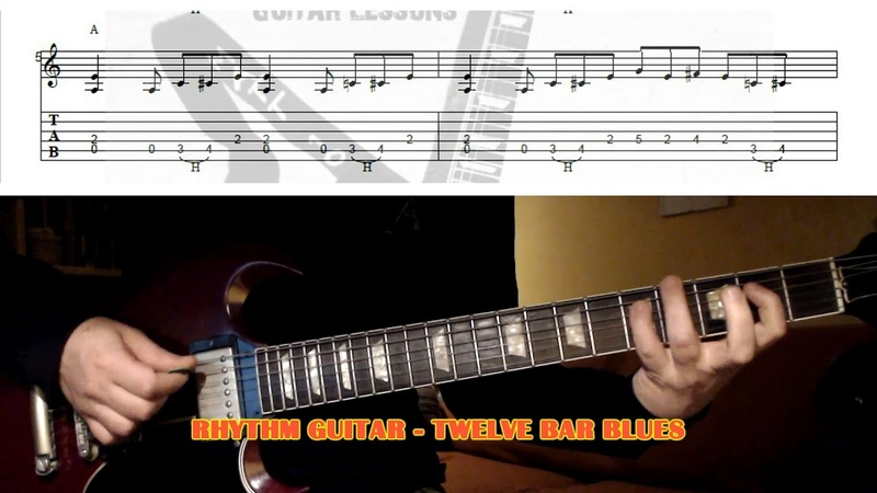12 Bar Blues in E - GUITAR LESSON with TAB