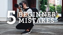 5 BEGINNER PHOTOGRAPHY MISTAKES How to Solve Them!