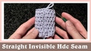 Straight and Invisible Half Double Crochet Seam in Round Tutorial