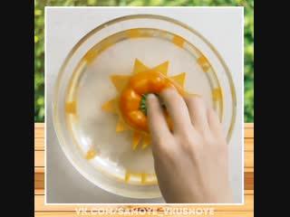Красивая нарезка фруктов и овощей. Оригинальное угощение. Кусочек рая...