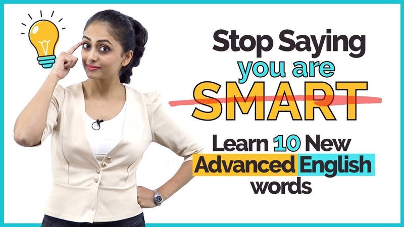 Stop Saying 'You Are Smart' - Learn 10 Advanced English Speaking Words | English Lesson by Meera