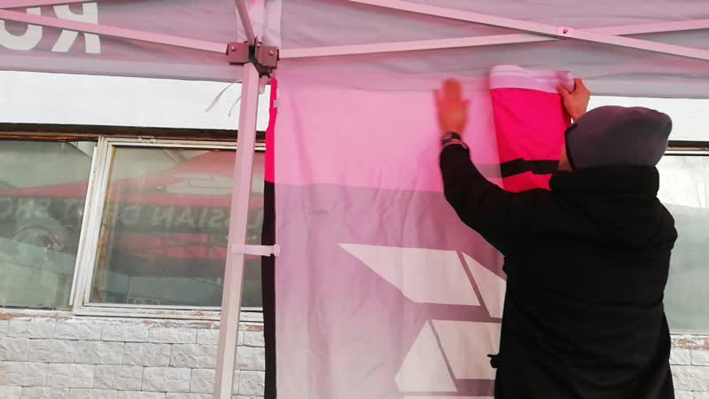 Как крепить стенку к шатру