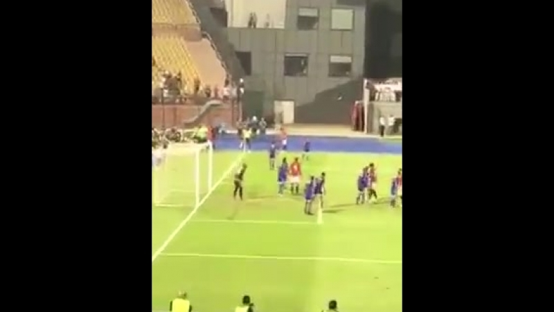 @MoSalah's Olimpico goal from the stands - - [ @m7md_badran]