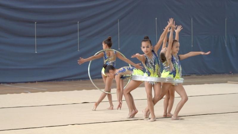 Групповые упражнения 1-й и 2-й поток Первенство г.Кстово по Художественной Гимнастике
