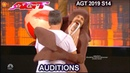 Sethward NEAR MISHAP AS A SEAL SIMON HELPS HIM | America's Got Talent 2019 Audition