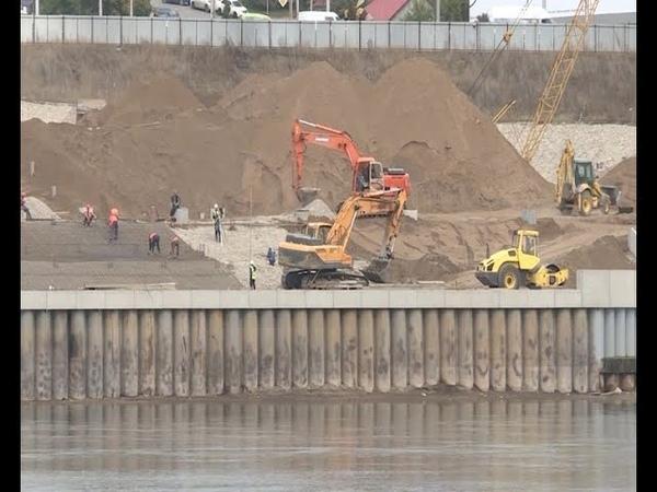 Реконструкция набережной реки Белой со стороны Монумента Дружбы завершена на 80%