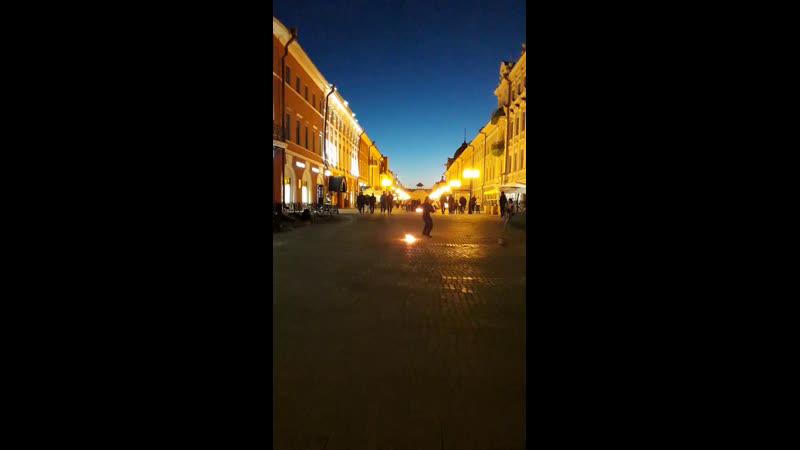 Фаер шоу Казанский Арбат