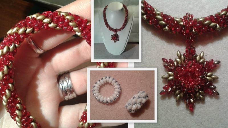 Superduo Spiral and a Toggle Clasp Beading Tutorial by HoneyBeads1