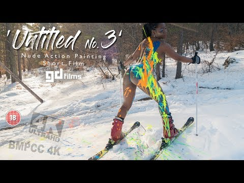 Nude Ebony Action Body Painting 'Untitled No.3' • GD Films • BMPCC 4K Deep House Rhodope
