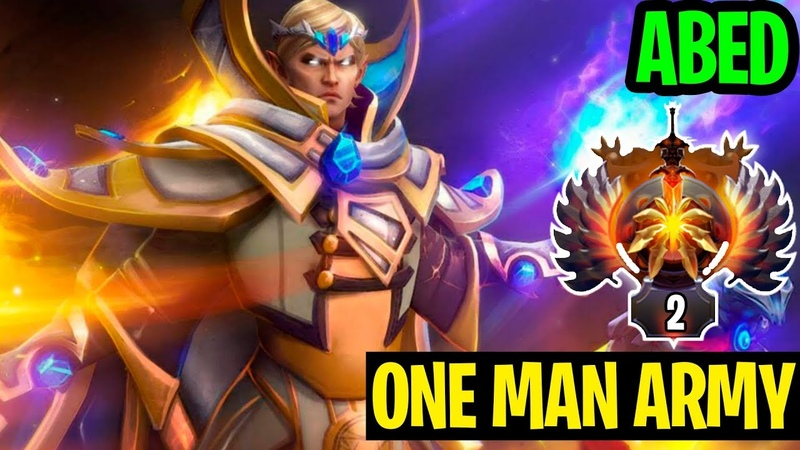 The One Man Army Carrying The Game - Abed Invoker - Dota 2