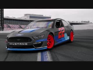 Vaughn Gittin Jr and Joey Logano Drift the NASCAR Mustang