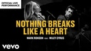 Mark Ronson ft Miley Cyrus Nothing Breaks Like a Heart Official Performance Vevo