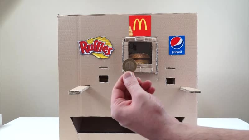 How to make ruffles McDonald and pepsi vending machine