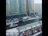 Красивый снегопад в Красноярске