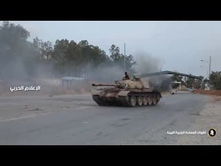 Libya- back by popular demand LNA tank doing donuts. - - This is the poor mans version of the other popular sport, aircraft doin