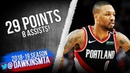 Damian Lillard Full Highlights 2019.02.13 Warriors vs Blazers - 29 Pts, 8 Asts! FreeDawkins
