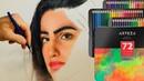 А Вы пробовали цветные карандаши Arteza Рисую портрет новыми материалами😄
