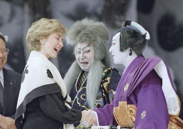 Хиллари Клинтон в Токио, Япония, 1993 год.