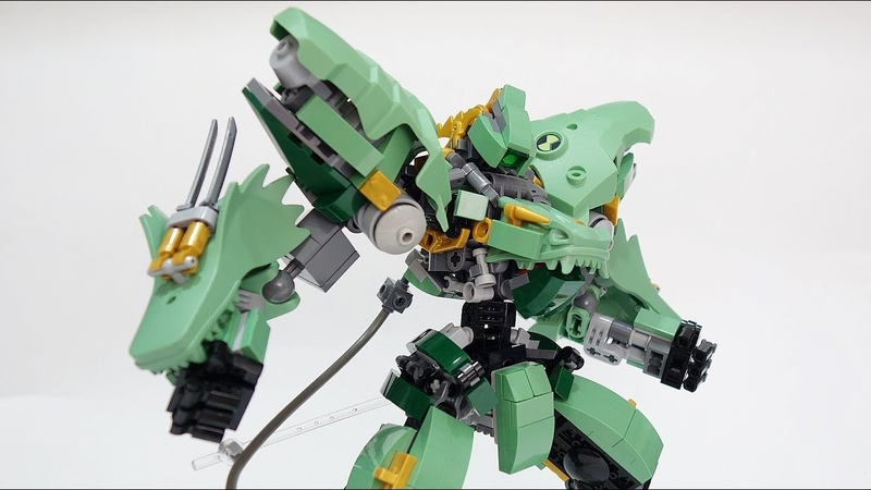 Меха Lego Jaeger Emerald Messiah из набора LEGO NINJAGO 70612 Механический Дракон Зеленого Ниндзя Конструктор