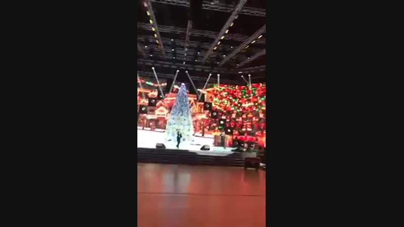 Данэлия Тулешова репетиция на балу Акима Астана 28.12.2018