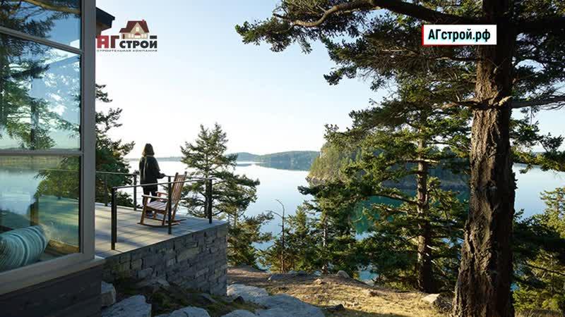 Дизайн23 Потрясающий современный дом на холме у озера в США