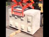 Изготовление бетонных блоков на месте! Как вам идея?