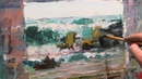 Oil painting Surf From the beginning to the end