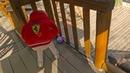 Дети играют в прятки с игрушками на площадке и в домике Бабы Яги или Lady Sofi Hide and Seek