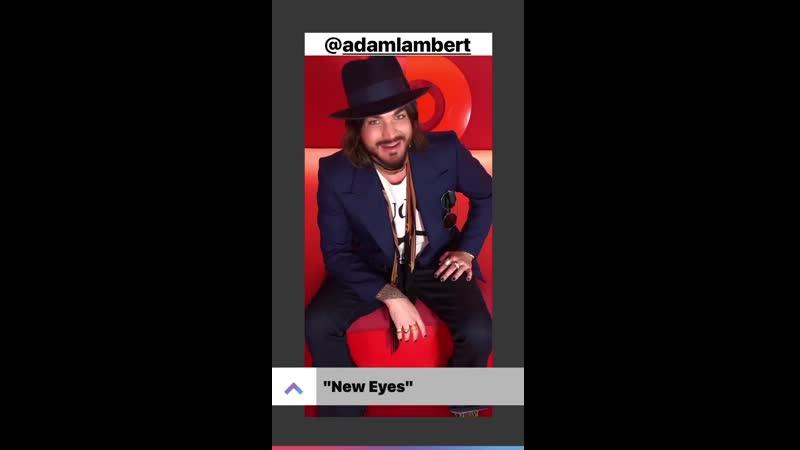 Adam lambert on Apple Music's Instagram Story NewEyes newsingle Velvet