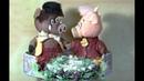 Символ Нового Года Семейство кабанчиков Пашка и Наташка коробка в виде сердца подсвечник