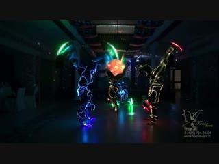 Заказать световое акробатическое шоу на праздник, корпоратив и новый год Москва