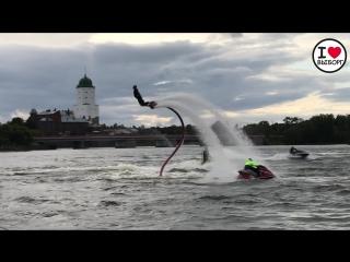 Полет на флайборде. Фестиваль водного туризма (2018).