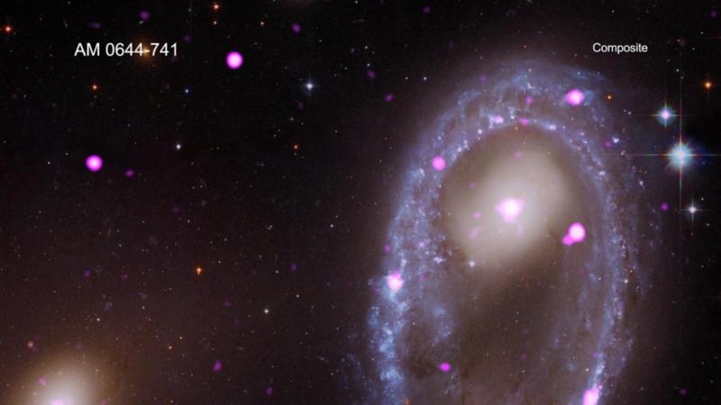Космология   Чандра   Тур по кольцеобразной галактике AM 0644