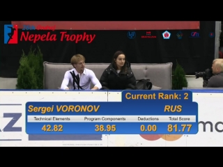 Серге́й Воронов - КП. Ondrej Nepela Trophy 2018