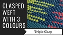 Clasped Weft with 3 colours