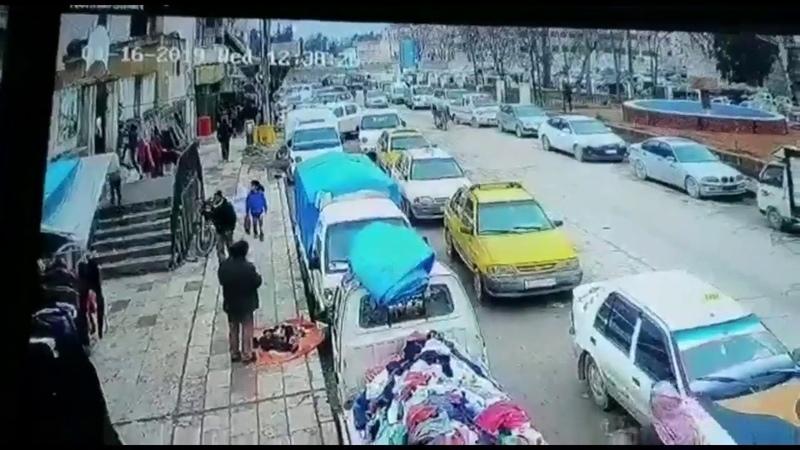 Видео момента подрыва военных США в Сирии