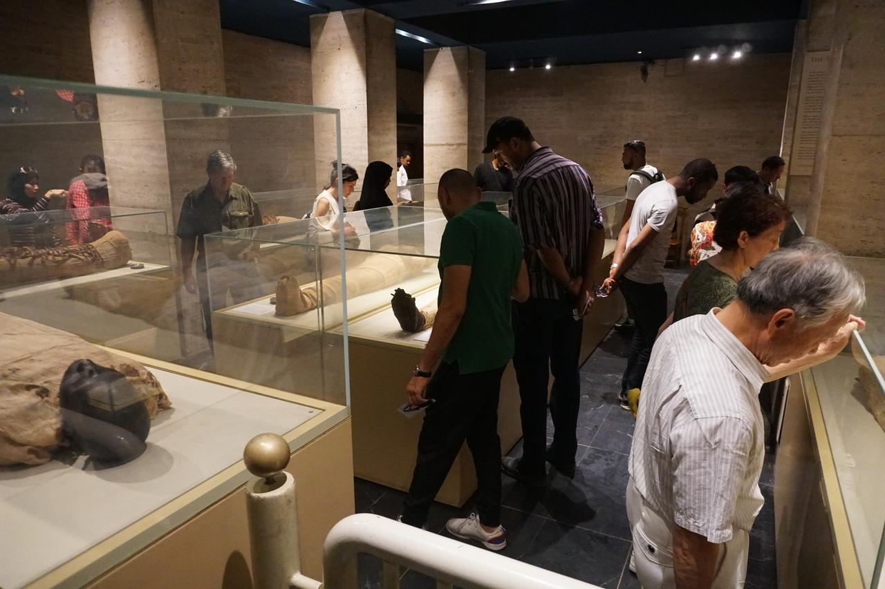 Зал мумий в Каирском музее